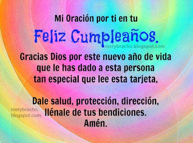 Imagen con oracion de cumpleaños agradecimiento a Dios por cumple