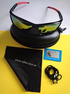 Поляризаційні сонце-захисні окуляри (червоні дзеркала 201)