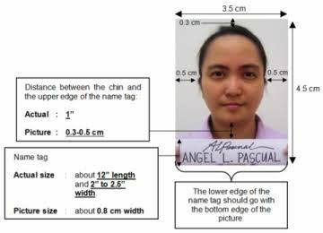 2x2 passport photo template