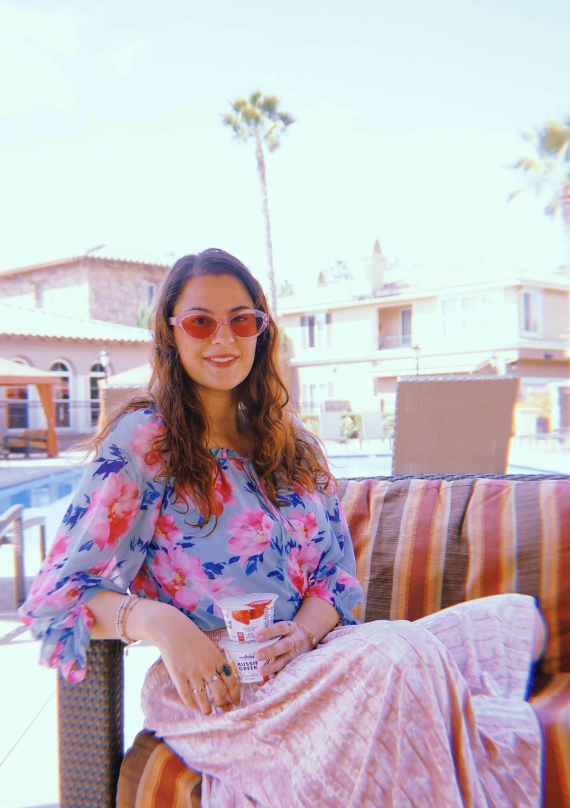Downtown San Diego Travel influencer and California blogger shares her self-employment journey as a blogging coach, social media consultant. Instagram influencer campaign with Wallaby Yogurt