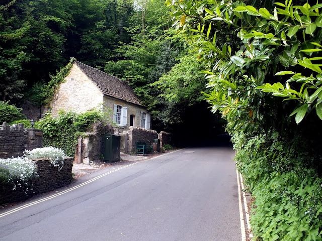 carretera para llegar a Castle Combe