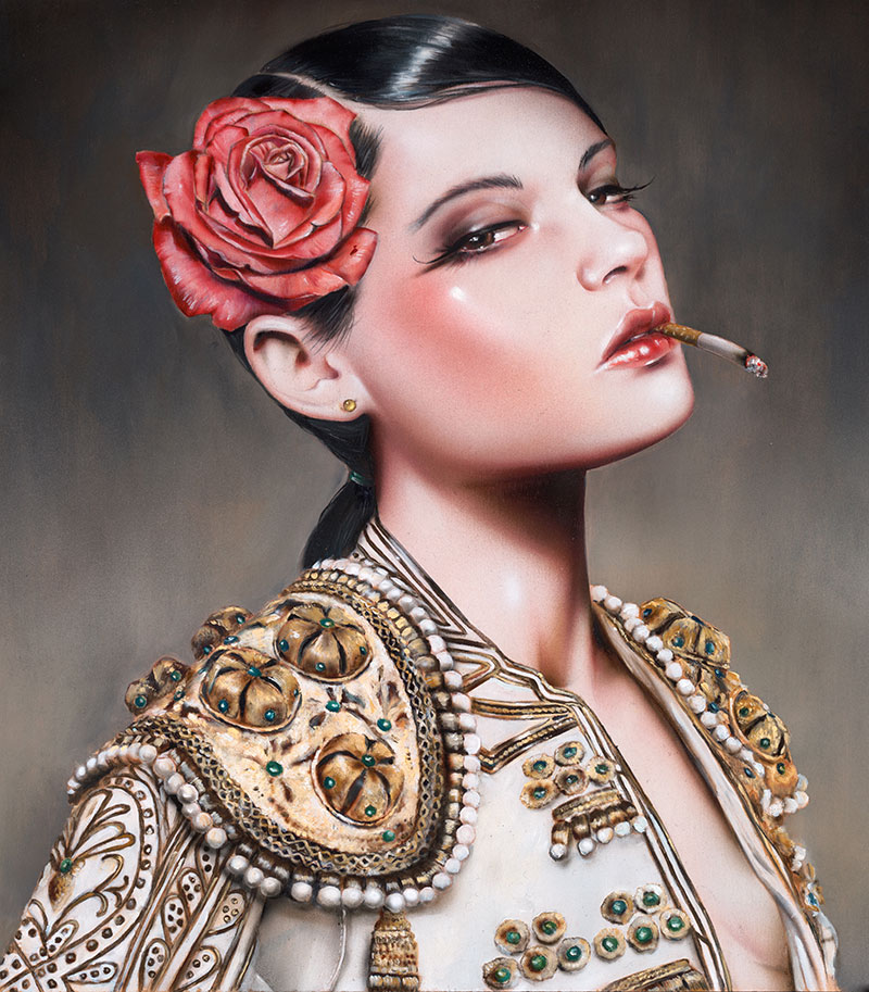 11-El-Camino-Brian-M-Viveros-Paintings-of-Femininity-in-the-Eye-of-the-Artist-www-designstack-co