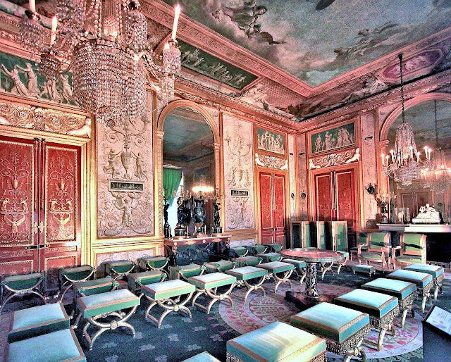 O Grand Salon de l'Impératrice em Fontainebleau.