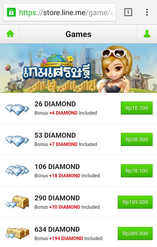 Cara Membeli Diamond Pada Game LINE Let's Get Rich Tanpa Menggunakan Kartu Kredit