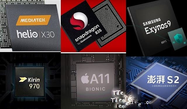 gambar prosesor mediatek, snapdragon, kirin dan exynos