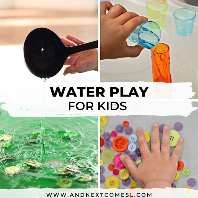 Water sensory bin activities and ideas for toddlers and preschoolers