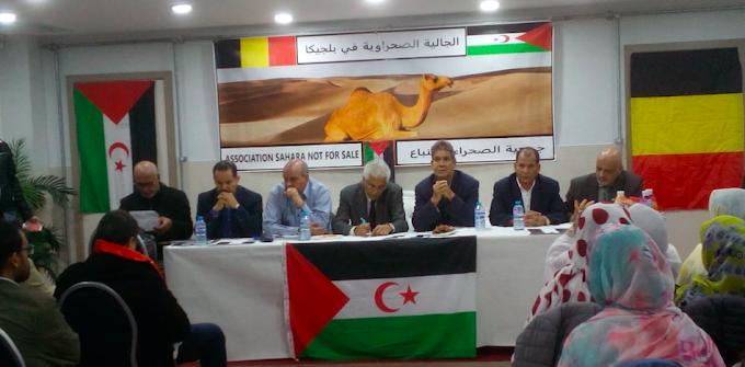 وفد رسمي صحراوي يجتمع بجمعيات المجتمع المدني الصحراوي في بروكسيل لتقييم برنامج عملها السنوي.