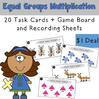 Equal Groups Multiplication Task Cards