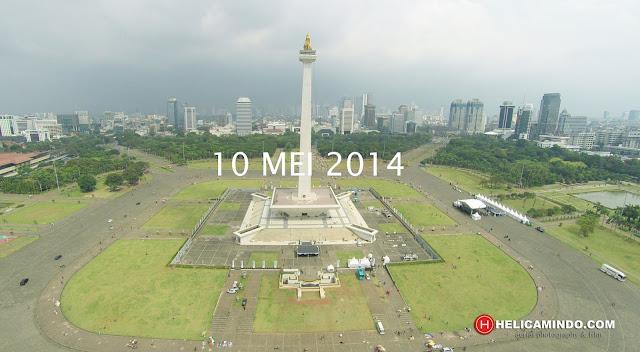 Foto Udara Kawasan Monas Tahun 2014