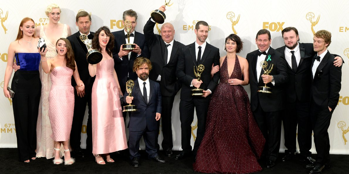Actores y actrices de 'Game of Thrones' con su Emmy