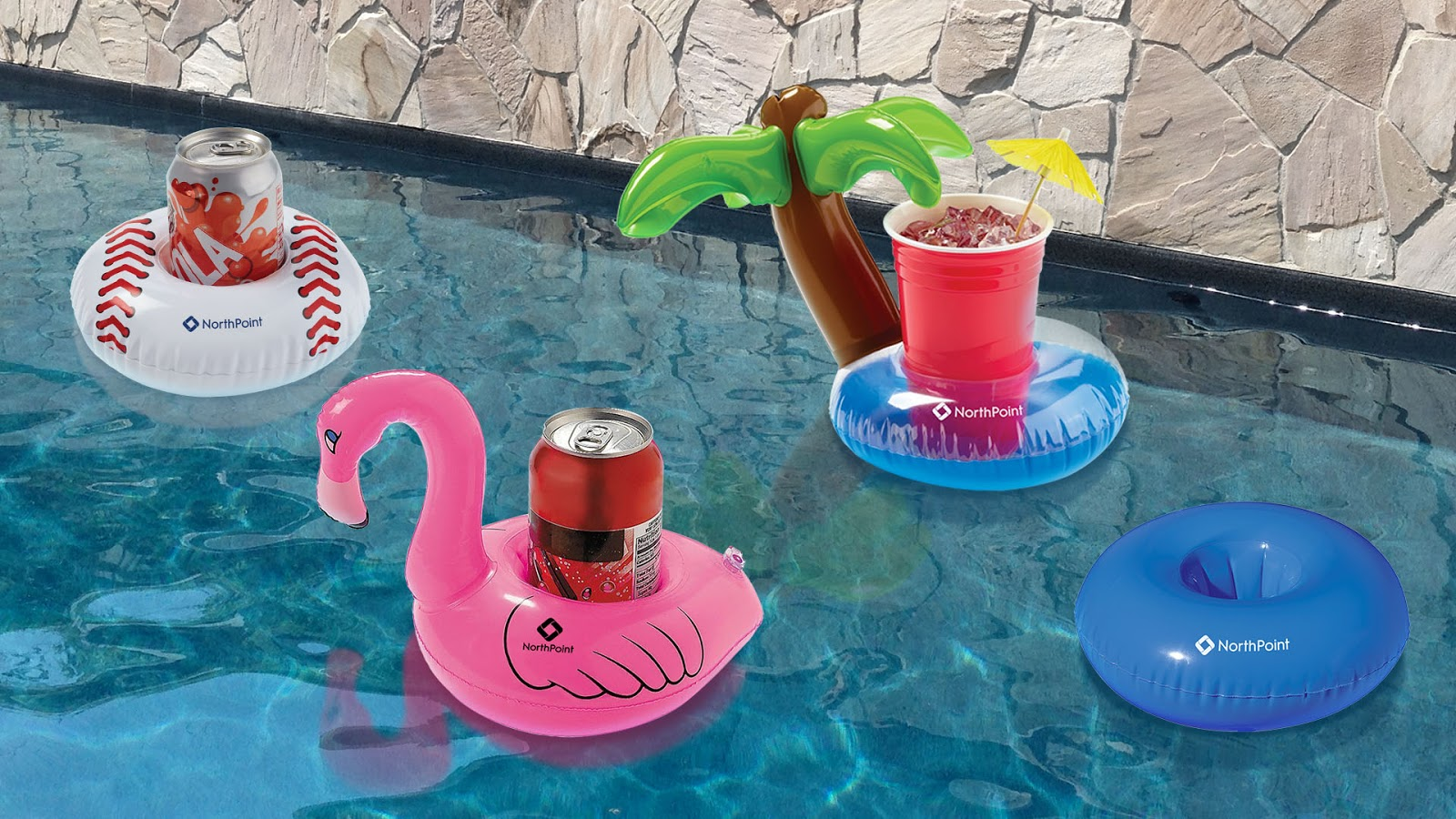 NorthPoint Inflatable Beverage Coasters