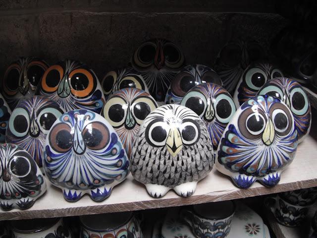 ceramics pottery Guatemala owl buho tecolote