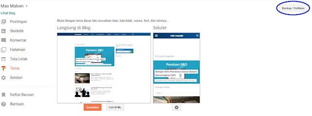 Cara Edit HTML untuk mengganti Menu Template Blogger