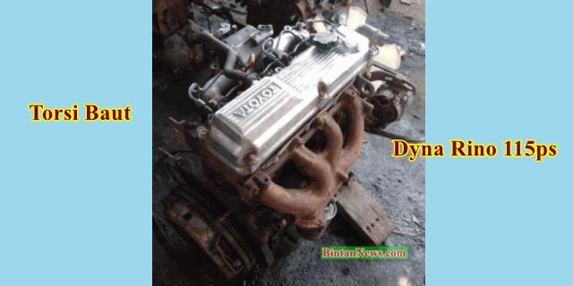 Torsi baut mesin 14B Toyota Dyna Rino 115ps - Tabel