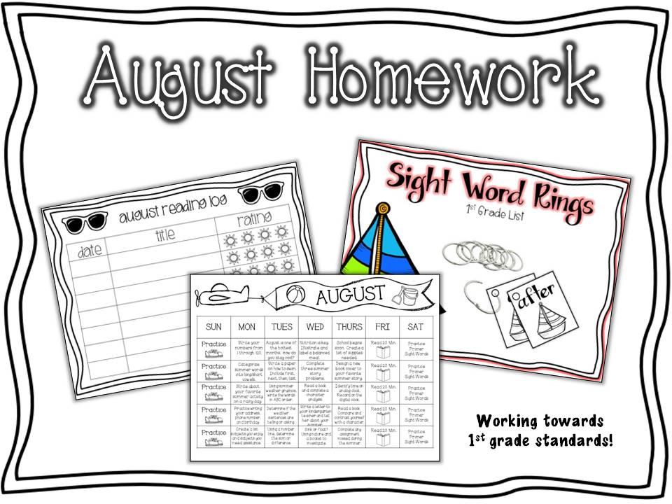 Primary Graffiti: Absorb Summer Content: Summer Homework