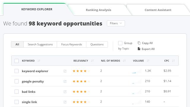 keyword tools seo