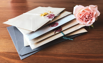 Pile of greetings cards in envelopes