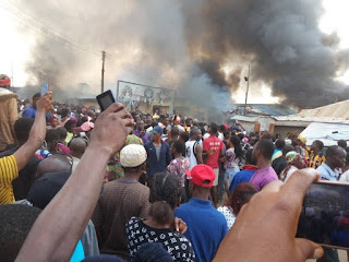 Youths set Akure church on fire over missing baby 'buried on altar'