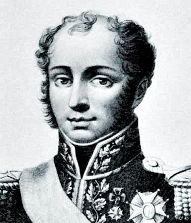 Comte Bertrand, detalle de una litografía de F. Cereghetti, c. 1827.