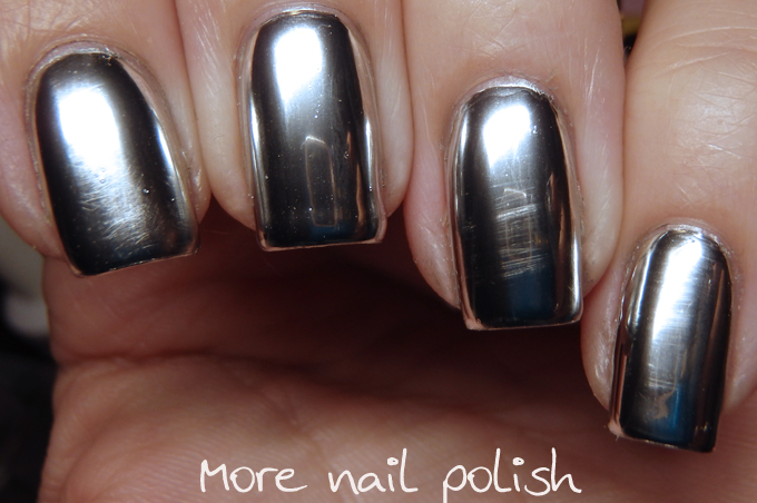 After Just A Few Hours Of Wear The Mirror Polish Had Worn Off And It Was Back To Gel Top Coat Over S Not Reflective At All