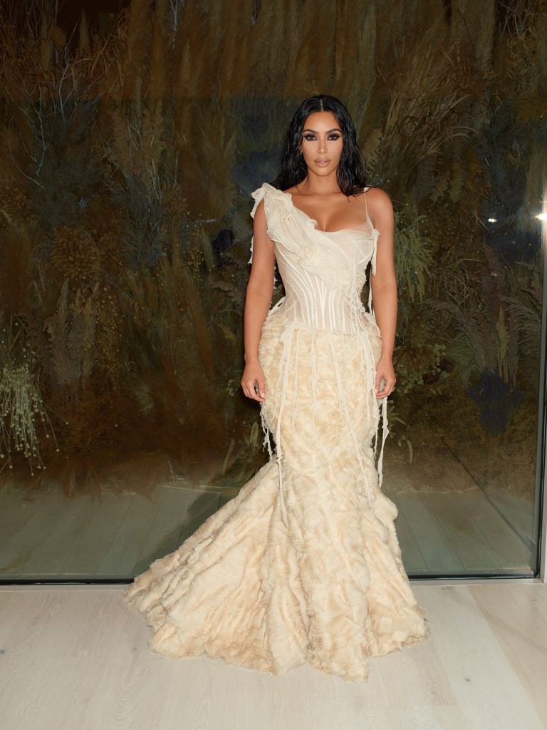 Kim Kardashian shrink-wraps hourglass curves in sheer dress for Oscars 2020