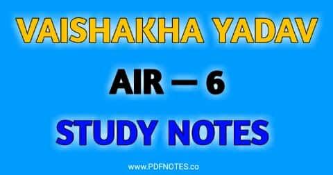 UPSC Topper Rank- 6 Vishakha Yadav Mark sheet, Study Notes, Strategy, Optional Subject, Answer Copy