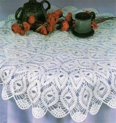 вязание ажурные скатерти