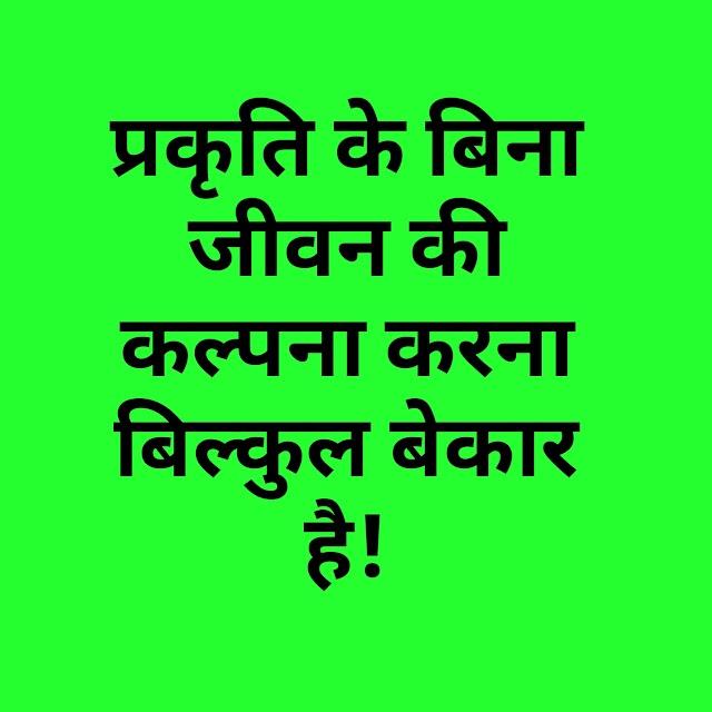 Hindi poem on nature - प्रकृति पर कविता