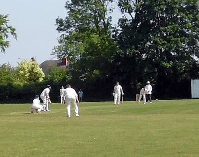 PICTURE: Action from Brigg Town Cricket Club's Supplementary Cup ground tie against Alkborough 2nds at the Recreation Ground in May 2018 - Nigel Fisher's Brigg Blog