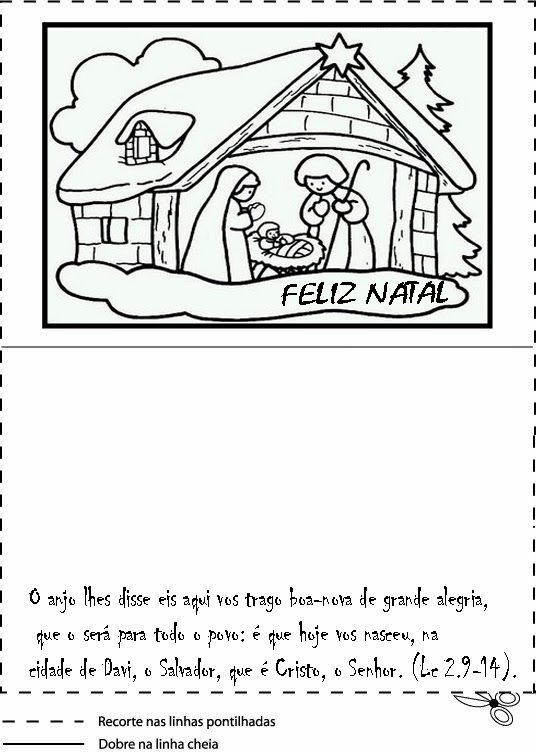 Cartoes De Natal Para Colorir Ensino Fundamental So Escola