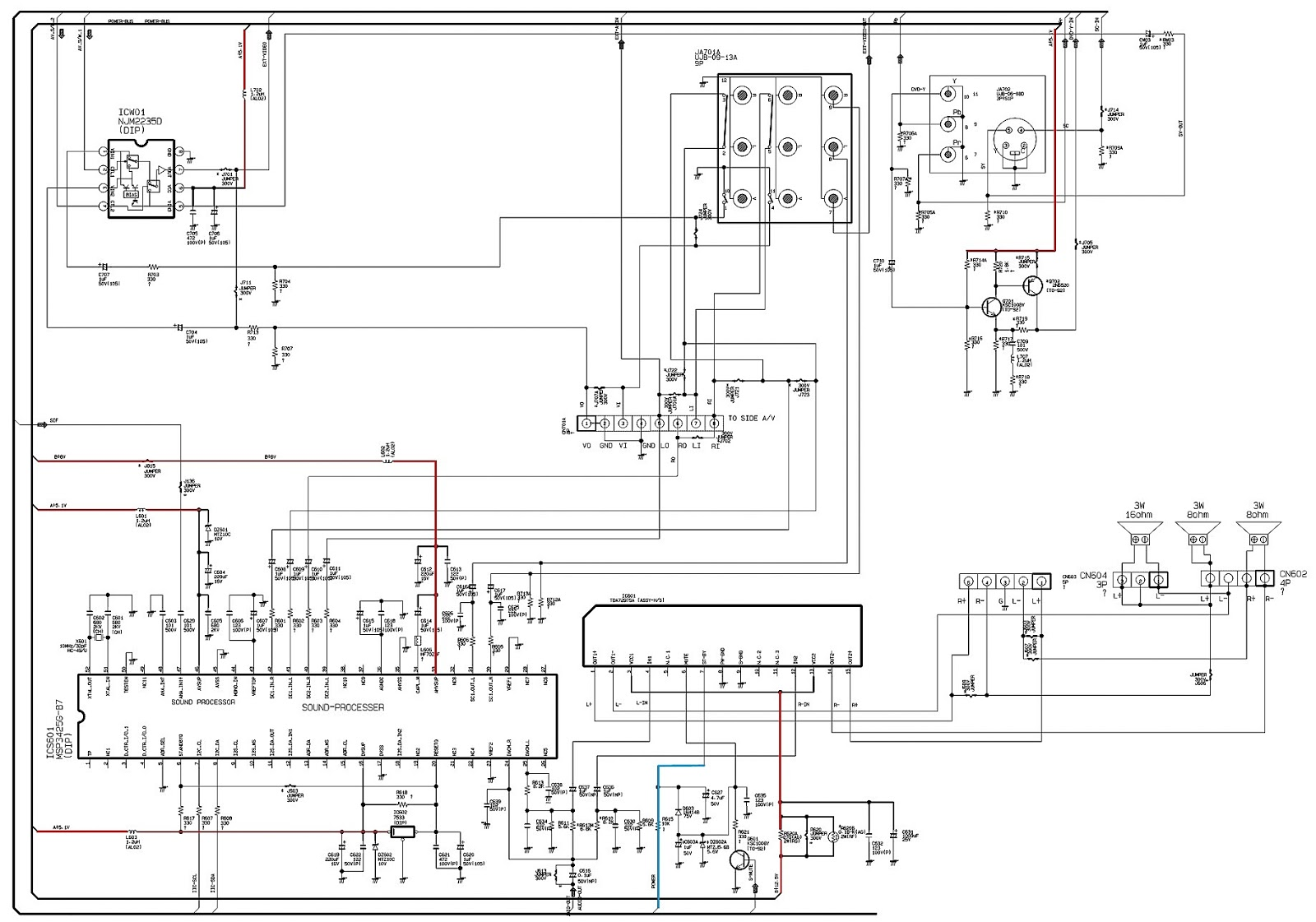crt monitor pcb diagram