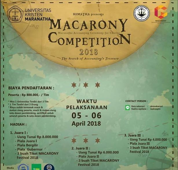 Lomba Accounting MACARONY Competition 2018 Univ. Kristen Maranatha