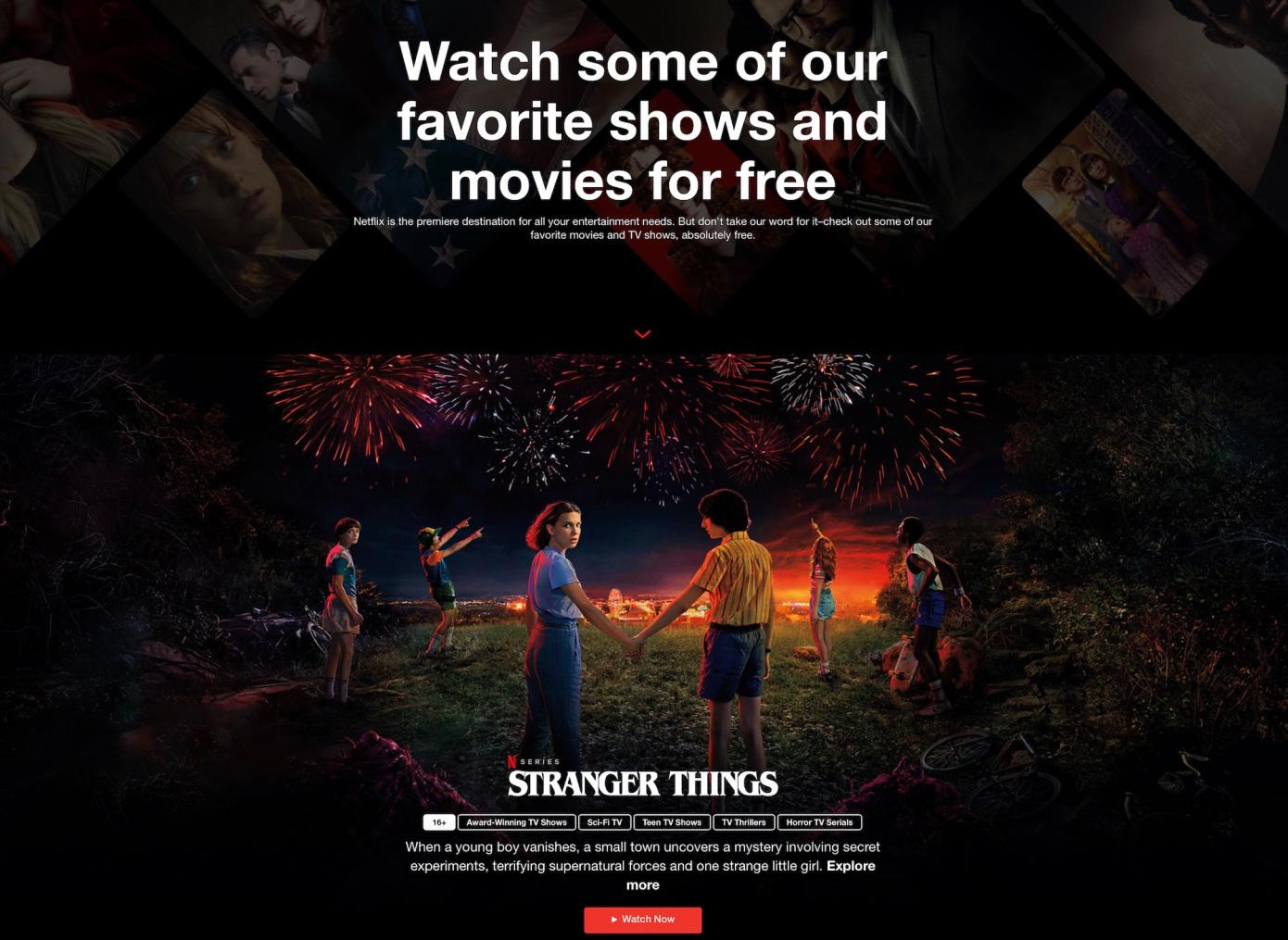 Netflix تتيح خدمة مجانية لأول مرة.. شاهد اشهر الافلام والمسلسلات مجانا