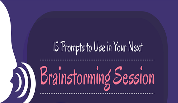 15 In your next brainstorming session, Prompts to use #infographic