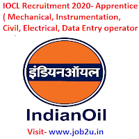 IOCL Recruitment 2020,Apprentice,Data Entry operator