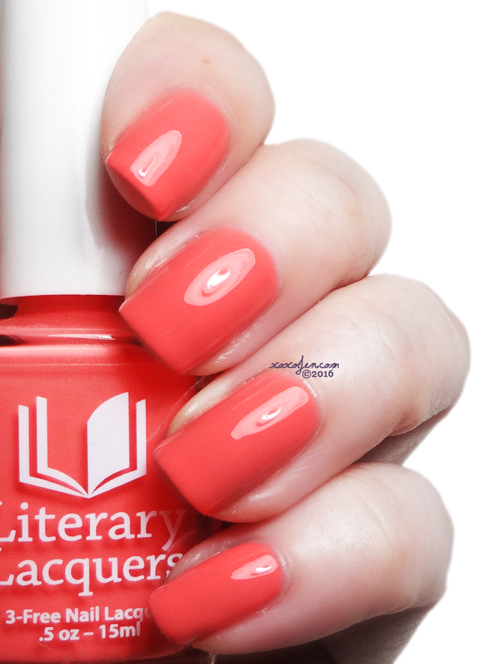 xoxoJen's swatch of Literary Lacquers Salmon Chanted Evening