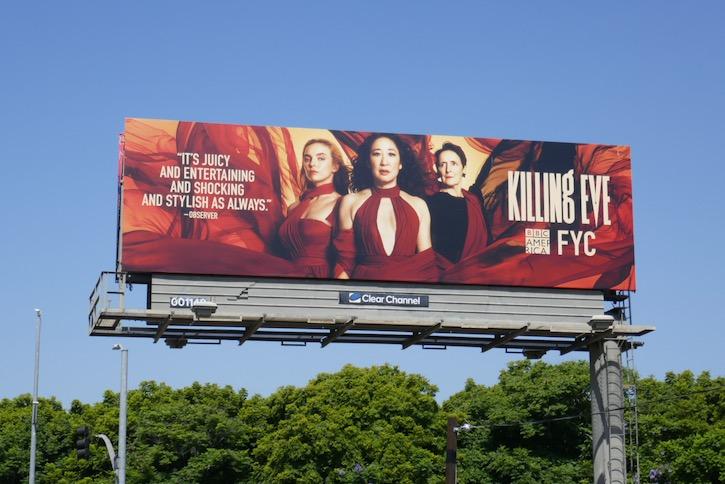 Killing Eve season 3 Emmy FYC billboard