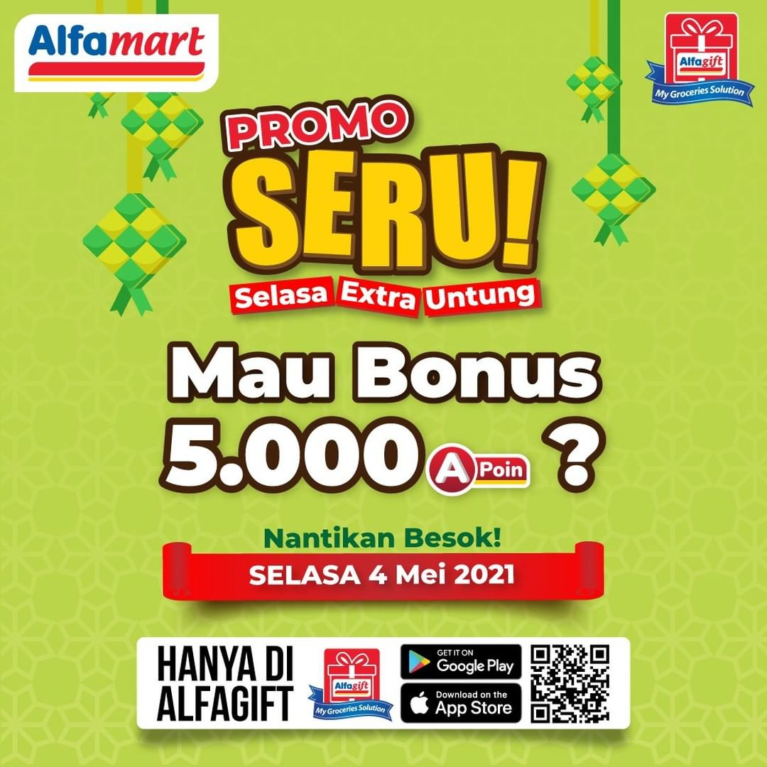 ALFAMART Promo SERU! Selasa Extra Untung via Aplikasi Alfagift