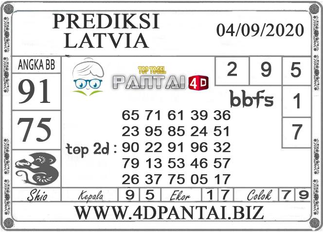 Prediksi Togel LATVIA PANTAI4D 04 SEPTEMBER 2020