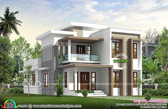 flat roof modern home