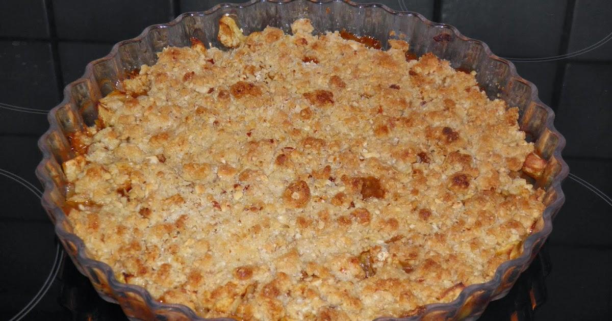 Smuldre æblekage med havregryn ~ Biancas Kageverden
