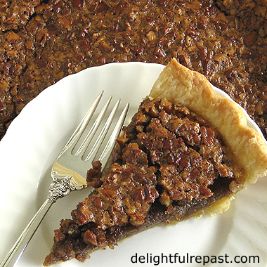 Pate Brisee - Classic French Pastry - perfect for pecan pie (as pictured), tarts, and quiches / www.delightfulrepast.com