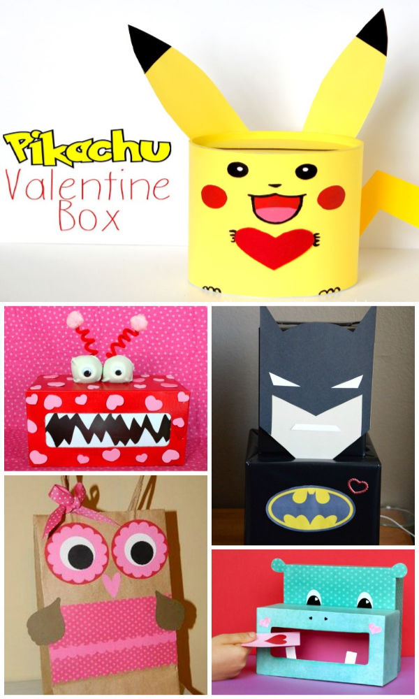 Fun & creative valentine boxes for kids.  Great ideas for card holders for class parties! #valentinesday #valentinesboxidescreative #valentinesboxesforschool #valentinescardboxideas #growingajeweledrose #activitiesforkids