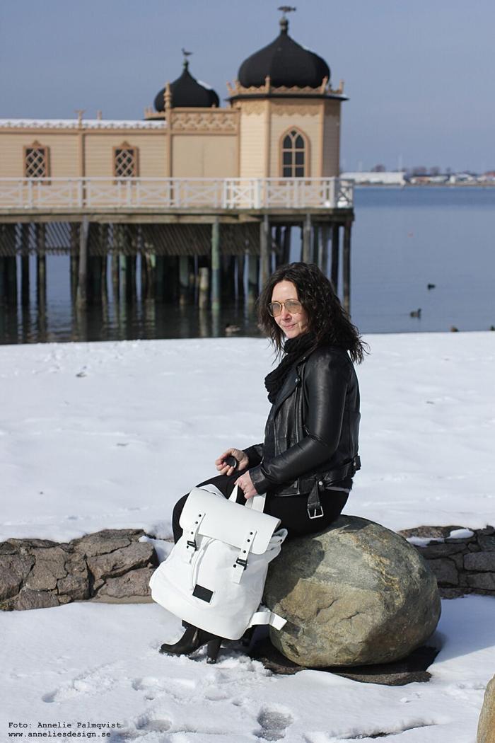 kallbadhuset, gaston luga, varberg, västkusten, pråper vit, vita, vitt, väska, väskor,