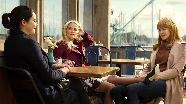 Jane, Madeline et Céleste à table dans Big Little Lies