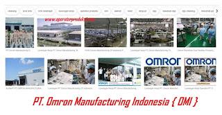 {PT.OMRON} Lowongan Pekerjaan Perusahaan OMI Indonesia Tahun 2019 - Operator Produksi