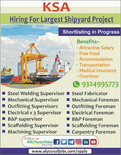 Hiring for Offshore Company in Saudi Arabia