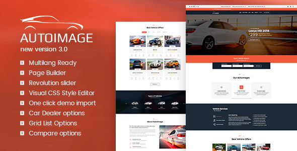 WordPress Car Dealer Theme Free Download Auto Image v3.4.5 – WordPress Car Dealer Theme Download