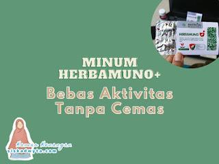 minum herbamuno+ bebas aktivitas tanpa cemas