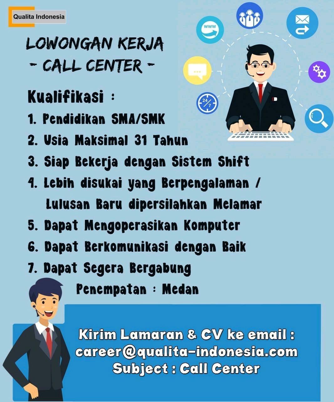 Lowongan Kerja Sma Smk D3 S1 Pt Qualita Indonesia Medan April Mei 2020 Lowongan Kerja Medan Terbaru Tahun 2021